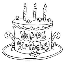 Coloring Birthday Cake Smithfarmspacom