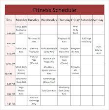 Class Timetable Template Extraordinary Yoga Class Schedule Template Timetable Premium Responsive Tangledbeard