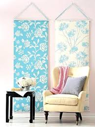fabric panel wall art projects using a roll of wallpaper crafts how to hang home decor make