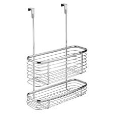 Over The Cabinet Basket Interdesign Axis Over The Cabinet Storage Basket In Chrome 56170