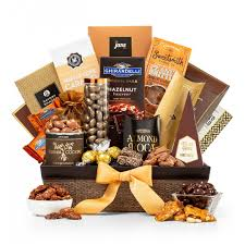 gourmet gift baskets generous gourmet nuts and chocolate basket
