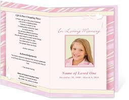 funeral pamphlet how to create your own funeral program all program templates