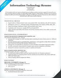 Information Technology Skills Resume Information Technology It