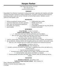 Fast Food Resume Classy No Experience Resume Examples Food Service Resumes Amazing Food