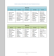 Sales Training Plan Template