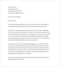 job termination letters termination notice 12 free samples examples format download