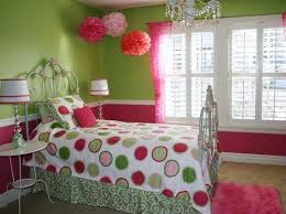 Lively Green and Pink Bedroom