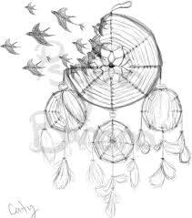 Dream Catcher With Birds Amazing Birds Flying From Dreamcatcher Tattoo Design