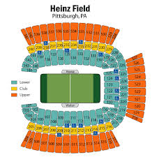 Steeler Game Seating Chart Breakdown Of The Heinz Field Seating Chart Pittsburgh Steelers