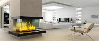 Decorations:Captivating Modern Fireplace Idea For Contemporary Apartment  With Realistic Fire Visualization Captivating Modern Fireplace