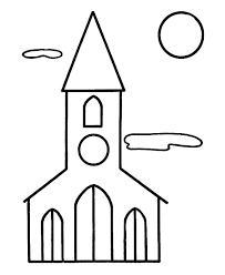 Church Coloring Page Church Coloring Pages Free Easter Church