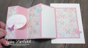 fold card mini photo tutorial fanfare fold card song of my heart stampers