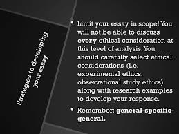 paper iii qualitative research methodology objective discuss  strategies to developing your essay limit your essay in scope