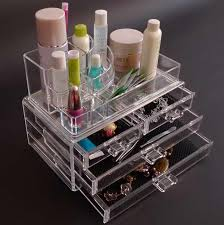 Cosmetic Organizer Countertop With Design Drawer
