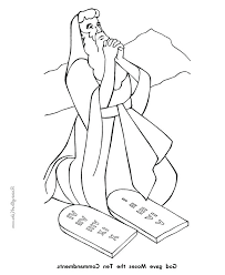Ten Commandment Coloring Pages Free Printable Ten Com Coloring Pages