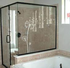 shower door shower door privacy sliding glass door window etched frosted glass dandelion