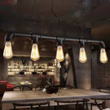 industrial style dining room lighting. aliexpresscom buy water pipe steampunk vintage pendant lights for dining room bar rust red home decoration american industrial loft lamp from style lighting