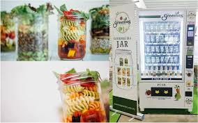 Salad Vending Machines Gorgeous M'sia's The Greenies Sells Salads In A Jar From Vending Machines