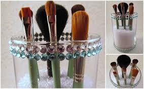 lid brush holder diy makeup