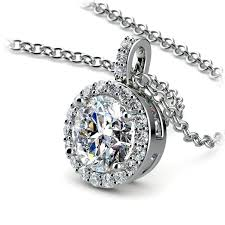 halo diamond solitaire pendant in white gold 1 1 2 ctw 03