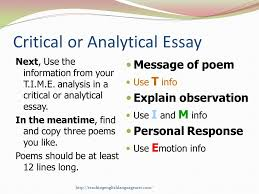 poetry t i m e introduction to poetry analysis ppt video online  critical or analytical essay