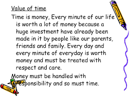 frankfinn personality development assignment 20 <ul><li>value of time