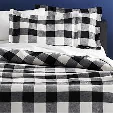 buffalo plaid linen bedding