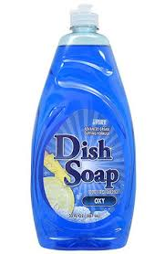 a bottle of dish soap is perfect for cleaning granite countertops