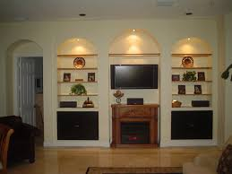 wall units built in entertainment center built in entertainment center plans with drywall arched wall