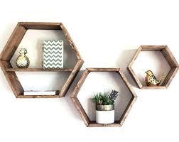honeycomb wall decor shelf