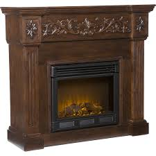 southern enterprises sei calvert electric fireplace espresso angle
