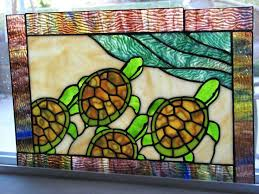 baby sea turtle stained glass fan pull by on patterns carcier co