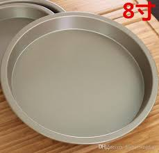 2018 8 inch gold round non stick baking mould 2 5 cm high cake carbon steel metal cookie pan or oven dish pie pan from home wedding 2 91 dhgate com