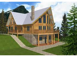 mountain log home with finished walk out lower level and a frame design