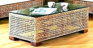 rattan coffee tables indoor wicker coffee table rattan white brown garden brown rattan outdoor coffee table small rattan side tables