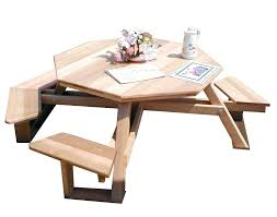 best wood for picnic table round wood picnic table plans