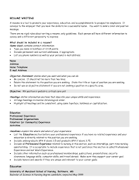 Examples Of Resumes How To Write A Simple Resume Format Template