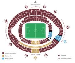 Uk Football Stadium Seating Chart Seating Plan West Ham United