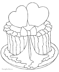 Small Picture Valentine Cake Coloring Sheet 008