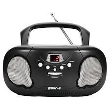 Groov-E Boombox Radio Cd Player Black - Tesco Groceries