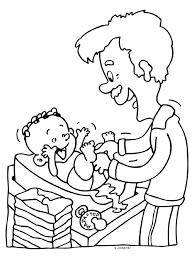 Baby Tekening Kleurplaat Ba Vader Verschoont Tropicalweather