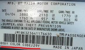 Mazda Paint Codes Car Touch Up Paint Car Paint