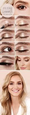 17 makeup tutorials simple gold shimmer