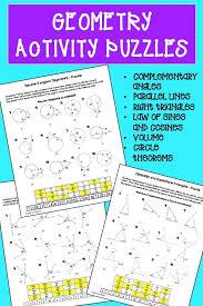 Geometry Puzzle Worksheets Bundle | Geometry activities ...