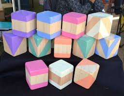 wooden toys pastel building blocks collection