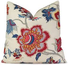 Red And Blue Decorative Pillows