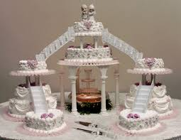 Dding Cakes With Fountains Hd Wallpaper Background Images