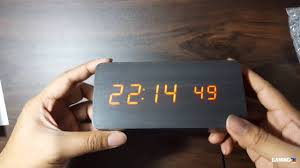 digital led wooden clock from