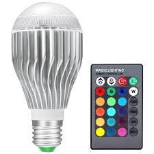 <b>RGB LED</b> Lamp <b>20W</b> 85-265V <b>E27</b> LED RGB Bulb Light 110V 120V ...