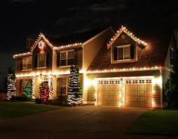 xmas lighting decorations. White Christmas Lights Houses Decorations Outside House Xmas Lighting